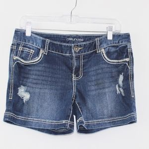 Maurices Shorts - 💘 Maurices Distressed Dark Jean Shorts 5/6